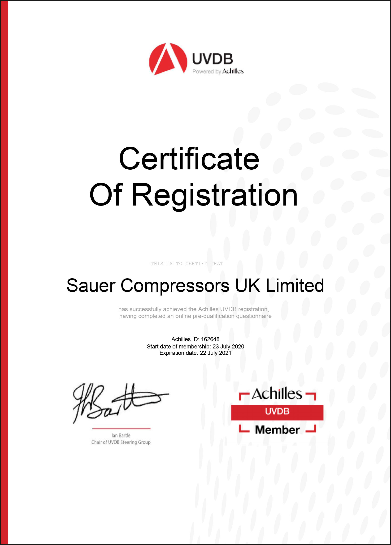 SC UK UVDB AchillesCertificate of Registration exp 23 7 2021