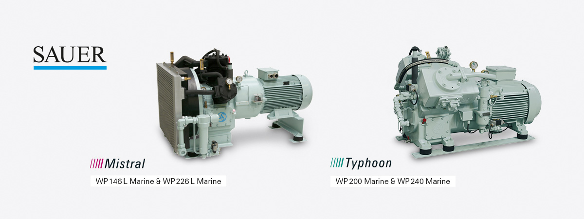 foto detail commercial shipping piston type sauer compressors
